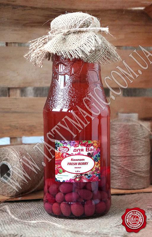 Компот из свежих ягод кизила