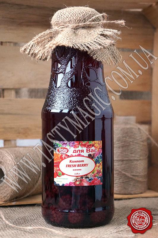 Компот из свежих ягод ежевики