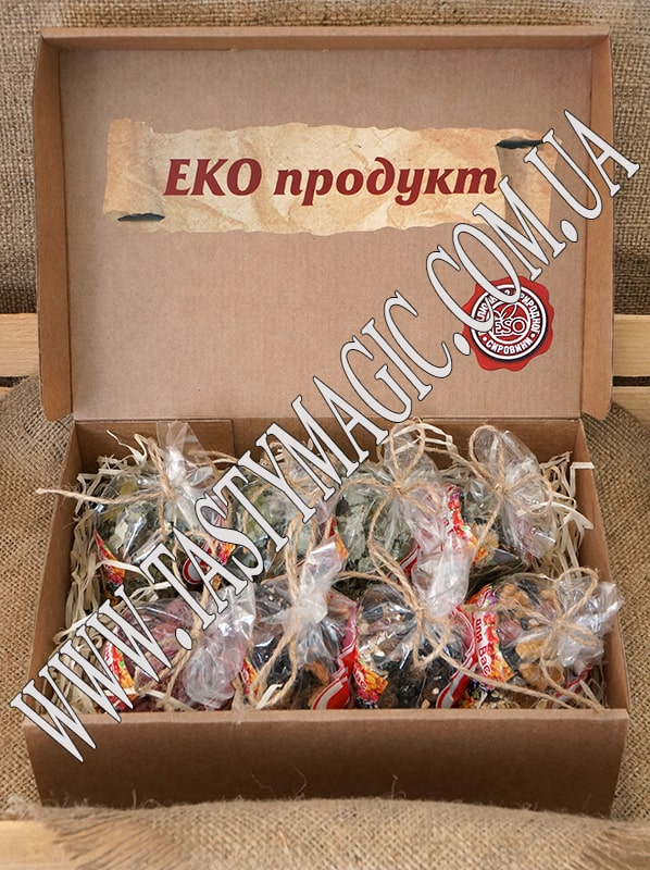Эко-набор каша ореховая, малина, черника и чай «slim», «sport», «maxivit», «relax»